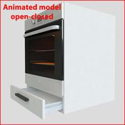 60厘米烤箱的厨房家具 3d model