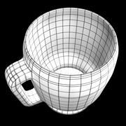 Mug en verre réaliste 3d model