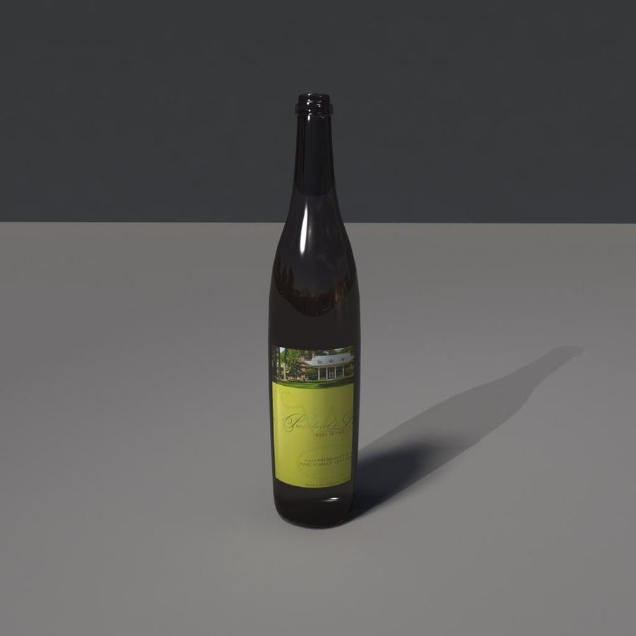 Botella de vino royalty-free modelo 3d - Preview no. 1