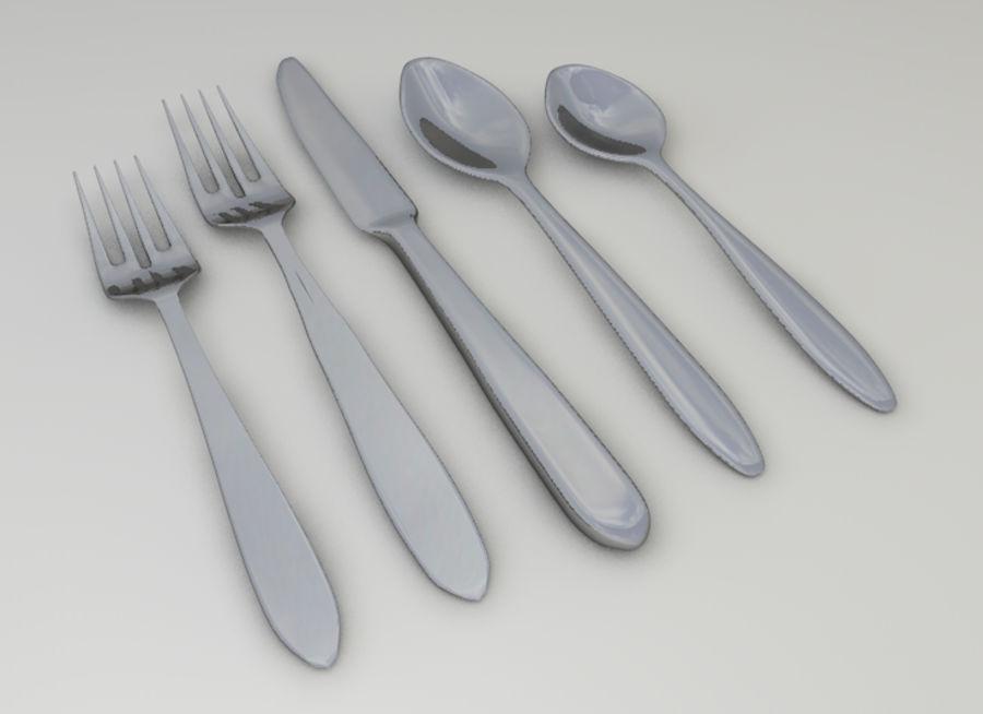 вилка, нож, ложка royalty-free 3d model - Preview no. 1