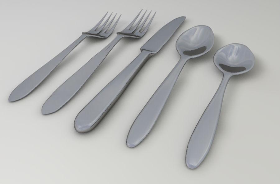 вилка, нож, ложка royalty-free 3d model - Preview no. 5