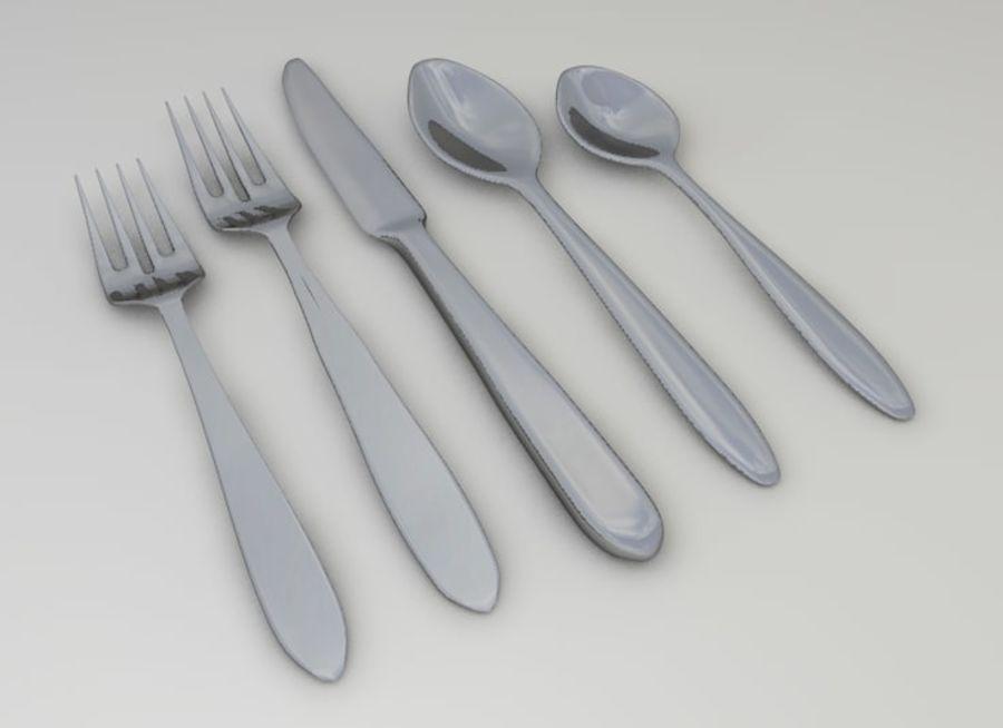 forchetta coltello cucchiaio royalty-free 3d model - Preview no. 1