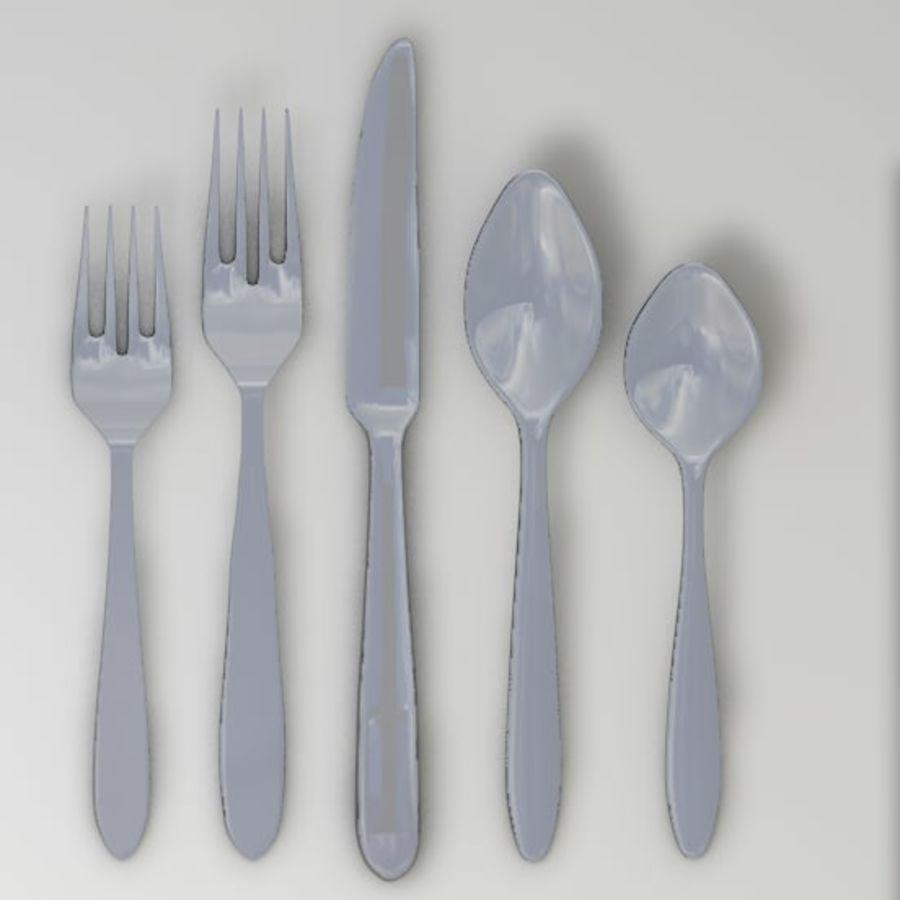 forchetta coltello cucchiaio royalty-free 3d model - Preview no. 2