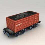 Lowpoly Coal Car Wagon modelo 3d