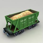 Lowpoly Grain Hopper Wagon modelo 3d