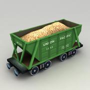 Lowpoly Grain Hopper Wagon 3d model
