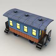 Lowpoly Old Railway Coach 3d model