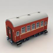 Lowpoly Modern Railway Coach 3d model