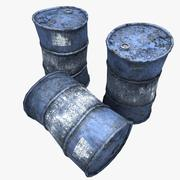 Very Rusty Oil Barrels 3d model