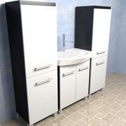 Wastafel in de badkamer 3d model