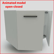 向下90厘米门的厨房家具 3d model