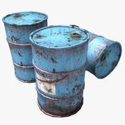Rusty Oil Barrels 3d model