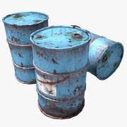 Rostiga oljefat 3d model