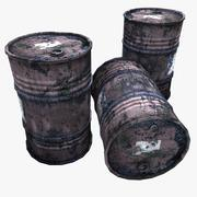Very Rusty Gasoline Barrels 3d model