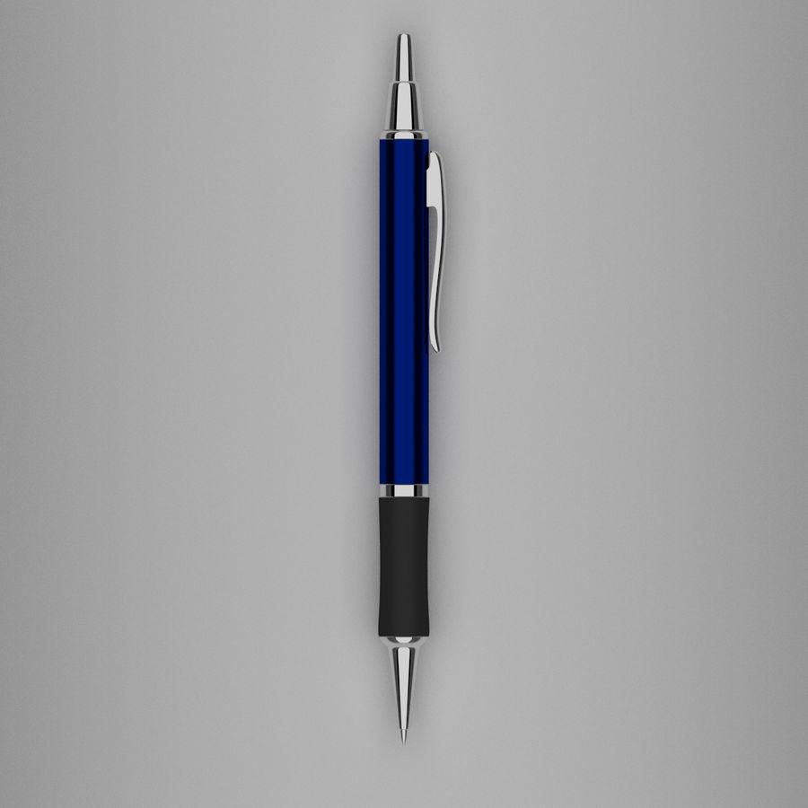 Dark Blue Pen royalty-free 3d model - Preview no. 4