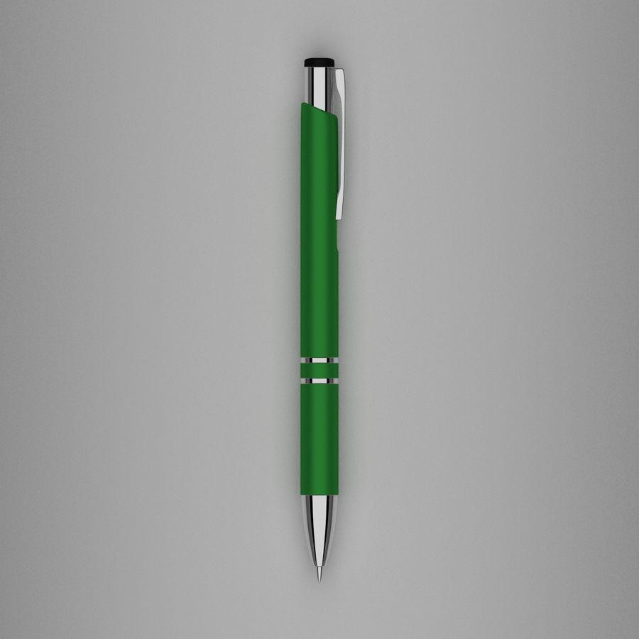 Green Pen royalty-free 3d model - Preview no. 4