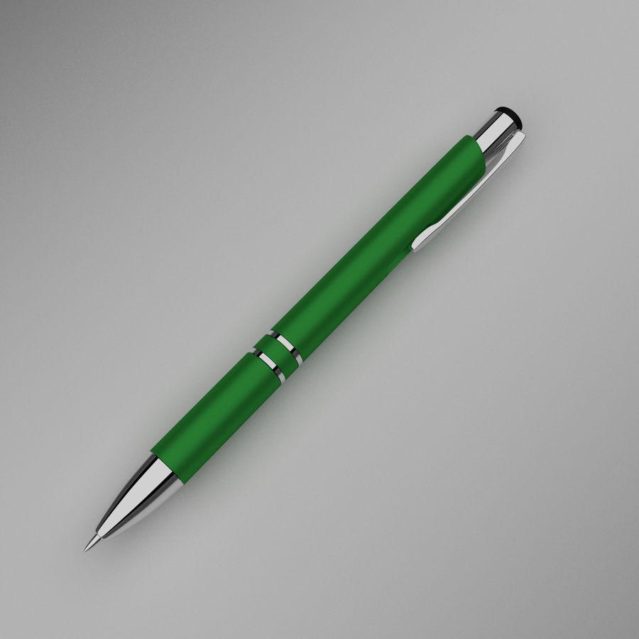 Green Pen royalty-free 3d model - Preview no. 1