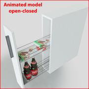 Кухонные шкафы-купе ML003H 3d model