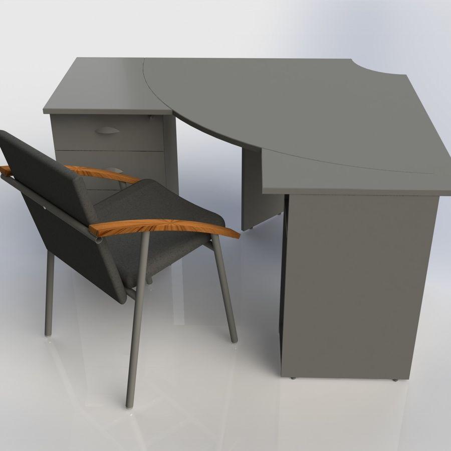 Офисная Мебель 007 royalty-free 3d model - Preview no. 3