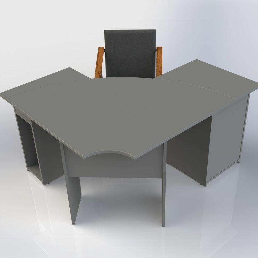 Офисная Мебель 007 royalty-free 3d model - Preview no. 5
