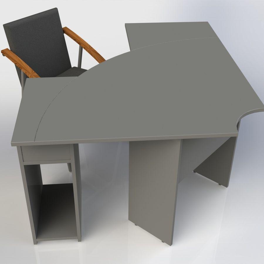Офисная Мебель 007 royalty-free 3d model - Preview no. 4