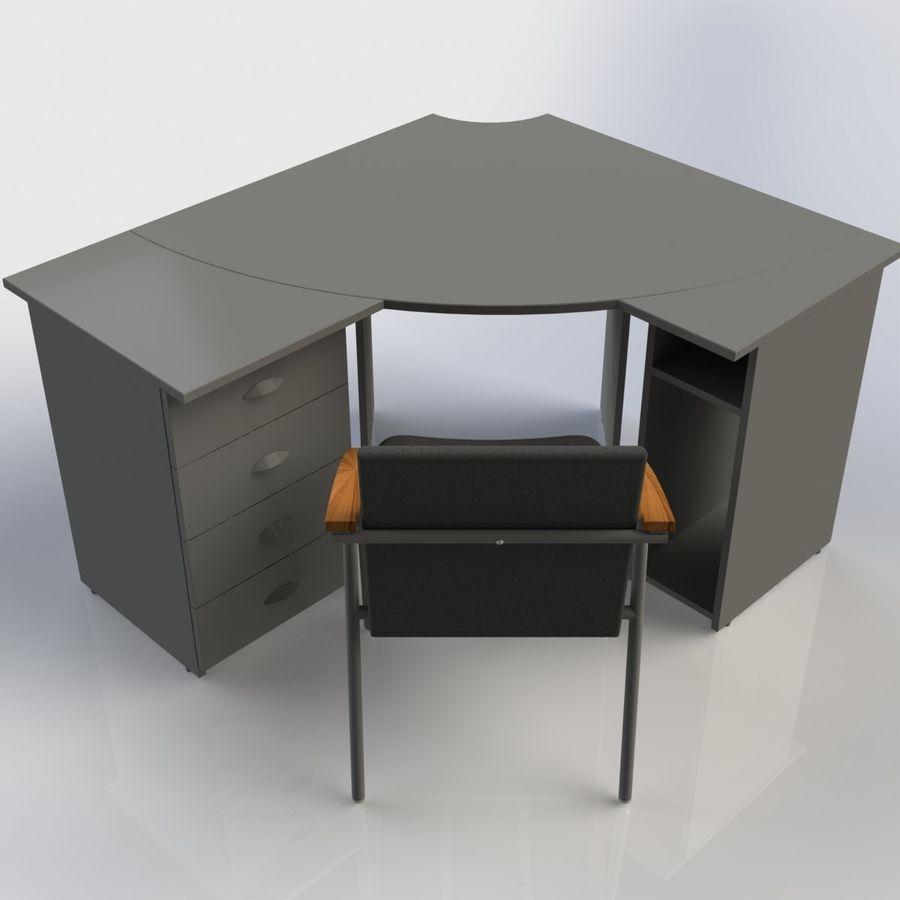Офисная Мебель 007 royalty-free 3d model - Preview no. 1