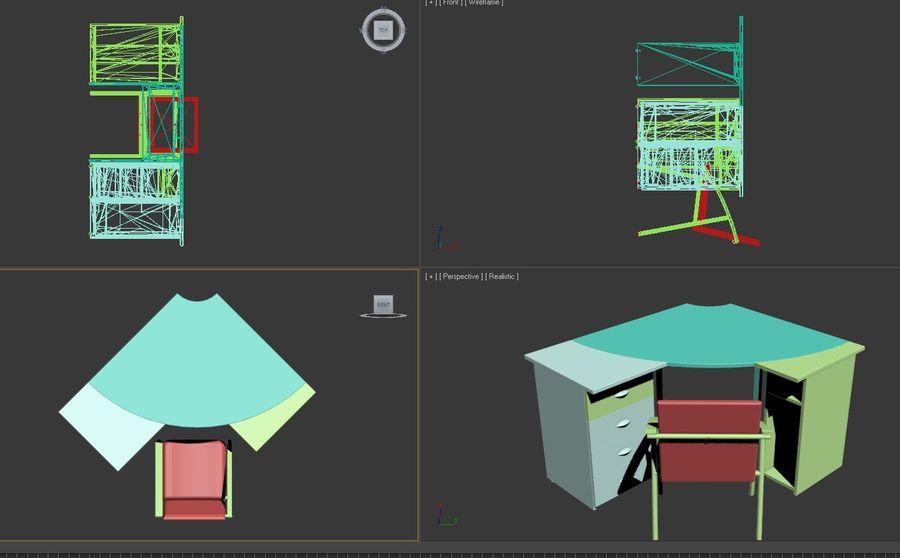 Офисная Мебель 007 royalty-free 3d model - Preview no. 7