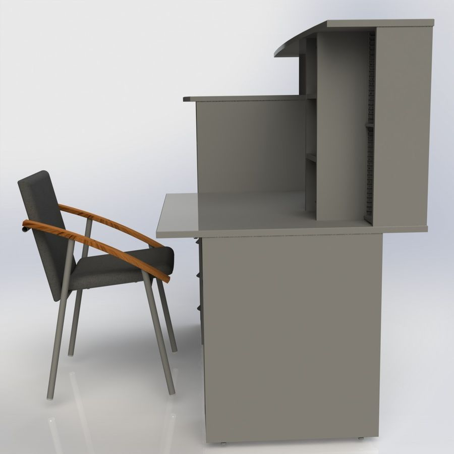 Office Furniture 005 royalty-free 3d model - Preview no. 4