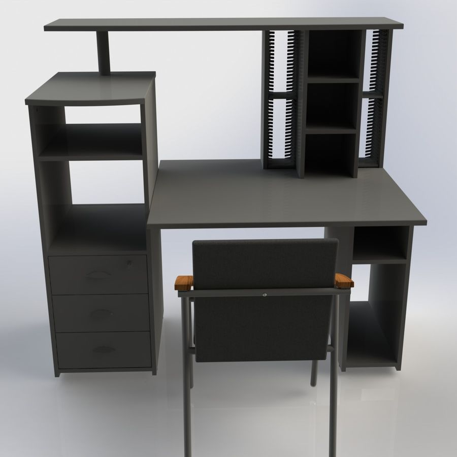 Office Furniture 005 royalty-free 3d model - Preview no. 2