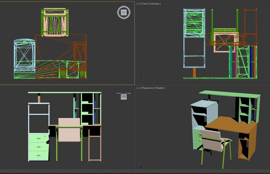Office Furniture 005 royalty-free 3d model - Preview no. 7