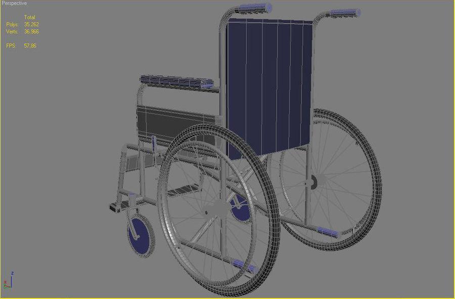 轮椅3ds max,obj,3ds royalty-free 3d model - Preview no. 8