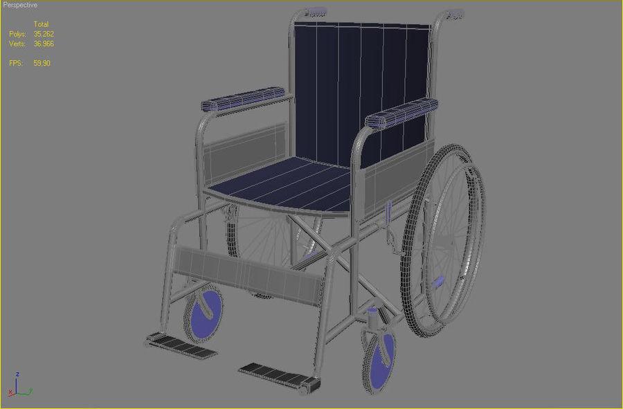 轮椅3ds max,obj,3ds royalty-free 3d model - Preview no. 7