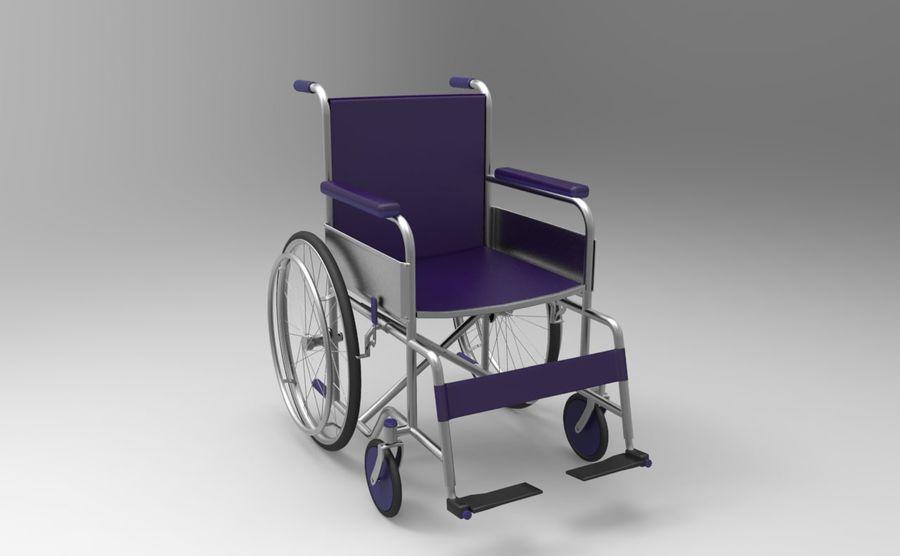 轮椅3ds max,obj,3ds royalty-free 3d model - Preview no. 4