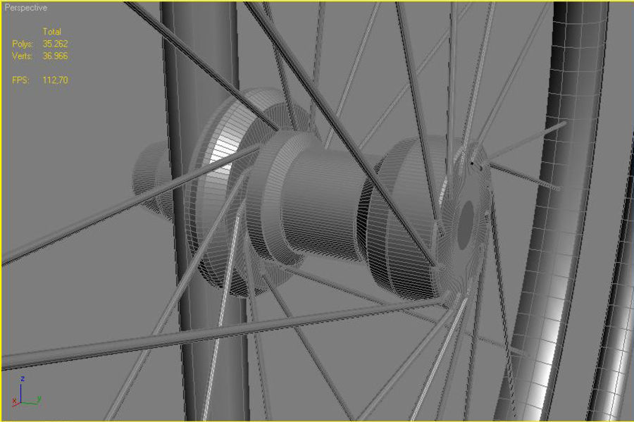 轮椅3ds max,obj,3ds royalty-free 3d model - Preview no. 6