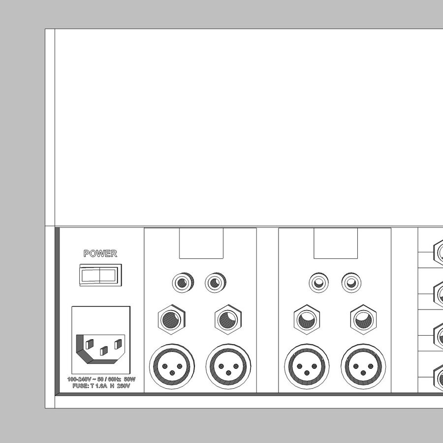 Mixing Board: All Purpose royalty-free 3d model - Preview no. 25
