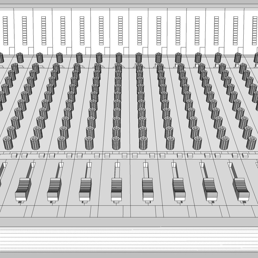 Mixing Board: All Purpose royalty-free 3d model - Preview no. 19
