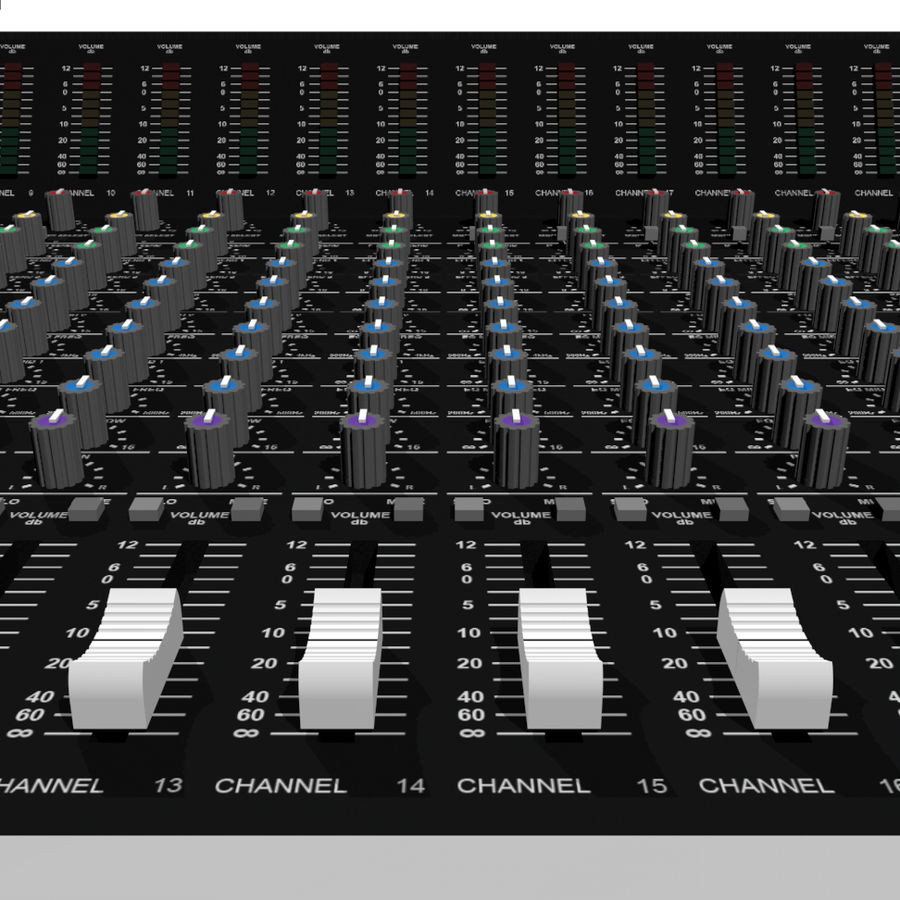 Mixing Board: All Purpose royalty-free 3d model - Preview no. 10