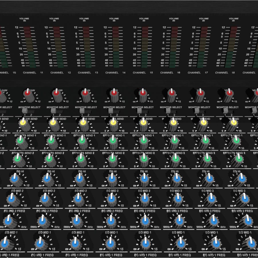 Mixing Board: All Purpose royalty-free 3d model - Preview no. 12