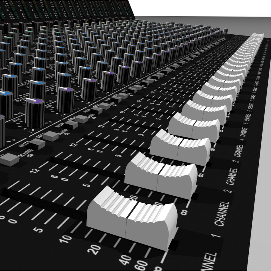 Mixing Board: All Purpose royalty-free 3d model - Preview no. 11