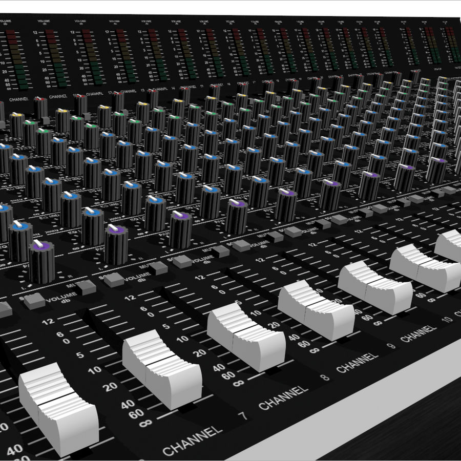 Mixing Board: All Purpose royalty-free 3d model - Preview no. 1