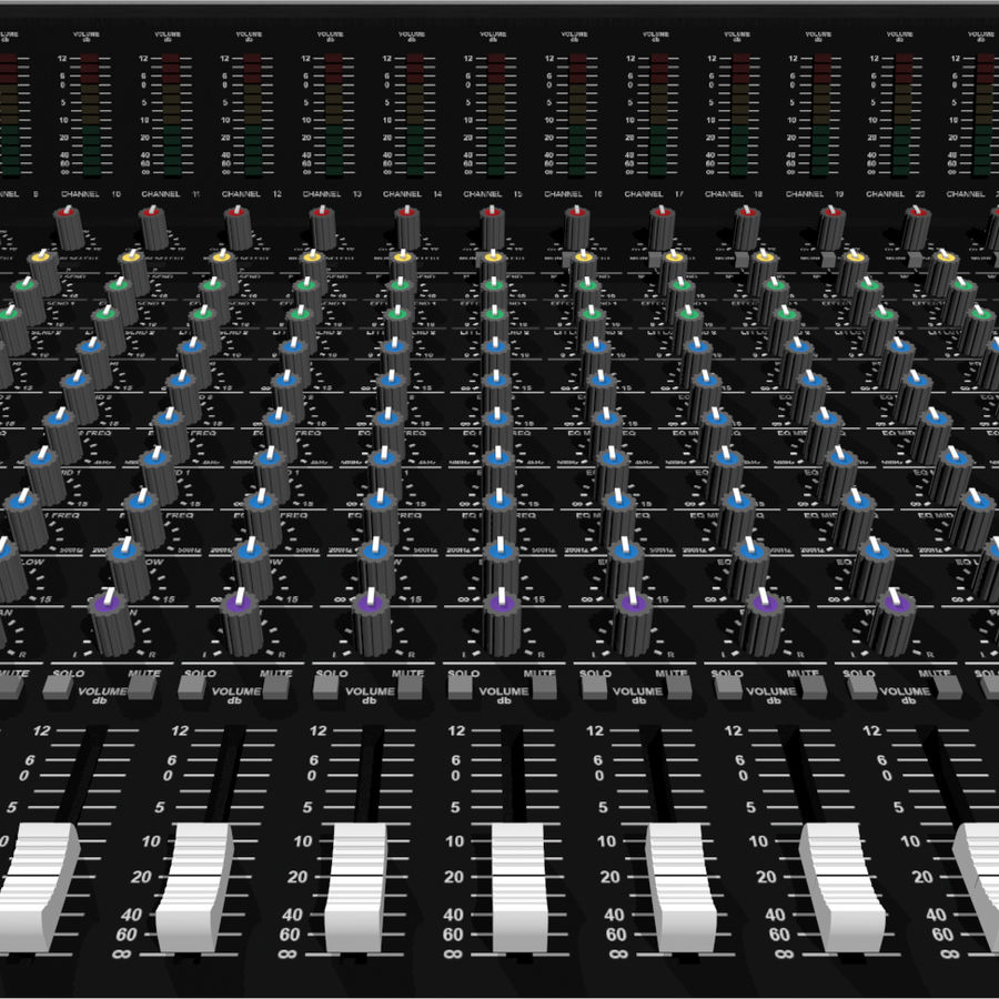 Mixing Board: All Purpose royalty-free 3d model - Preview no. 9