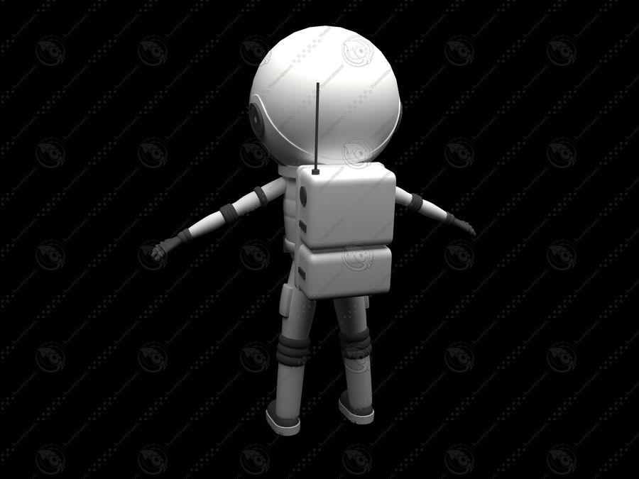 Astronaut royalty-free 3d model - Preview no. 3