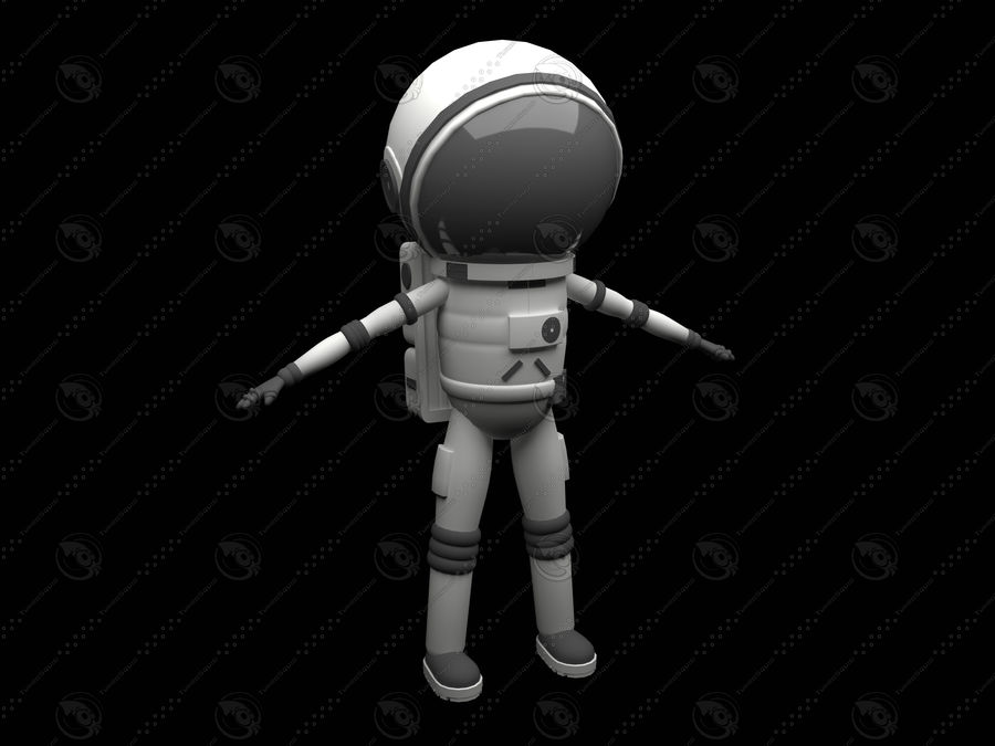 Astronaut royalty-free 3d model - Preview no. 1
