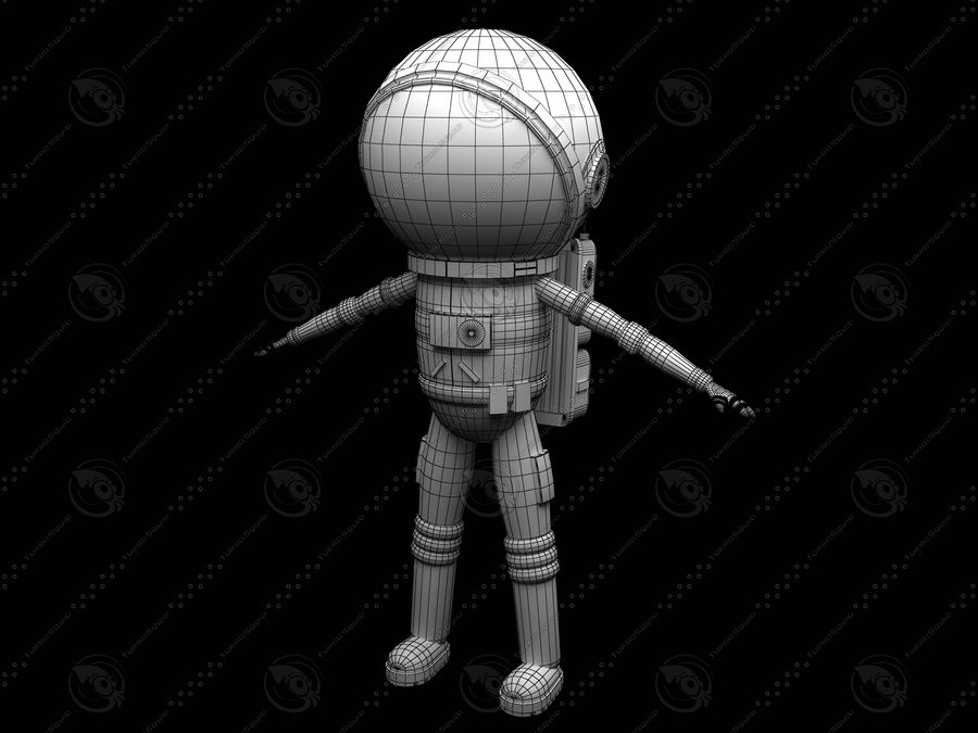 Astronaut royalty-free 3d model - Preview no. 7