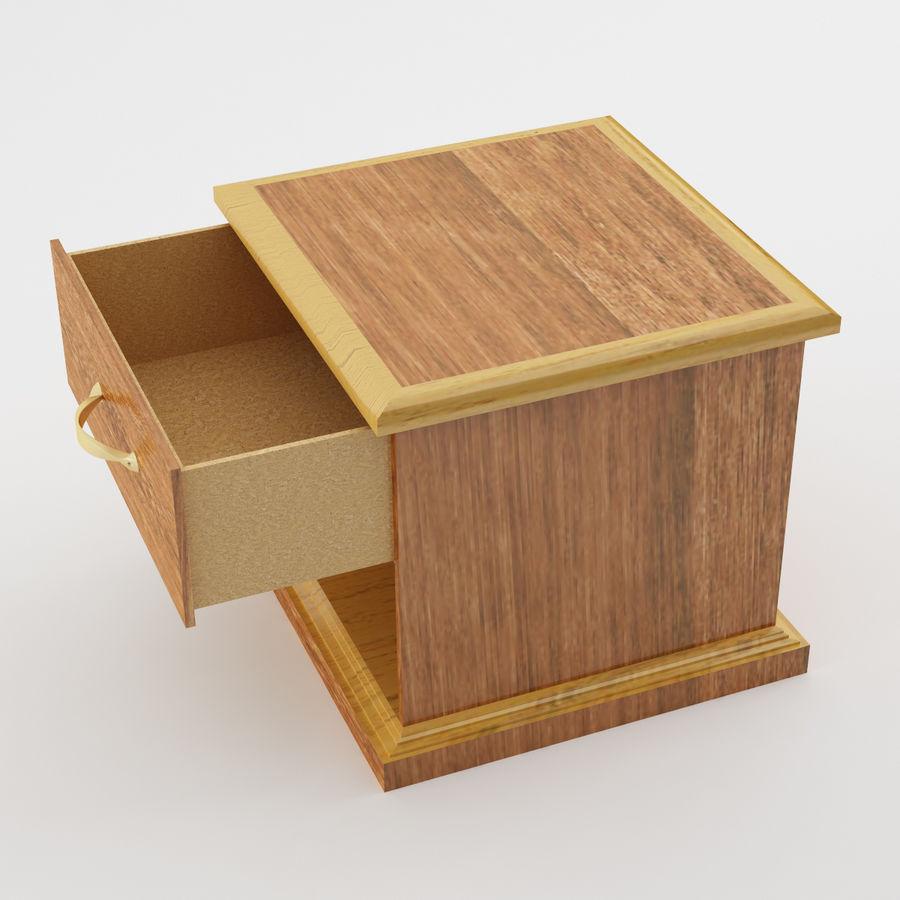 Comodino per camera da letto modello 3D royalty-free 3d model - Preview no. 3