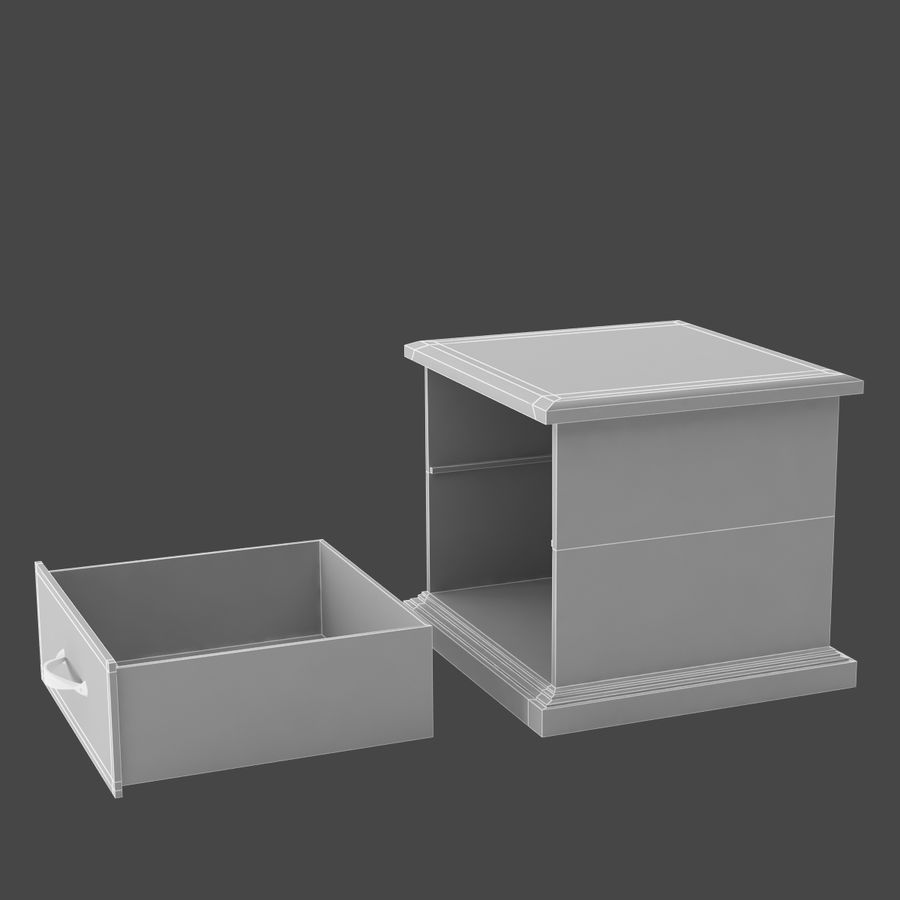 Comodino per camera da letto modello 3D royalty-free 3d model - Preview no. 8