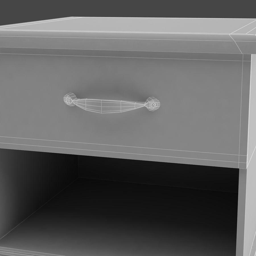 Comodino per camera da letto modello 3D royalty-free 3d model - Preview no. 6