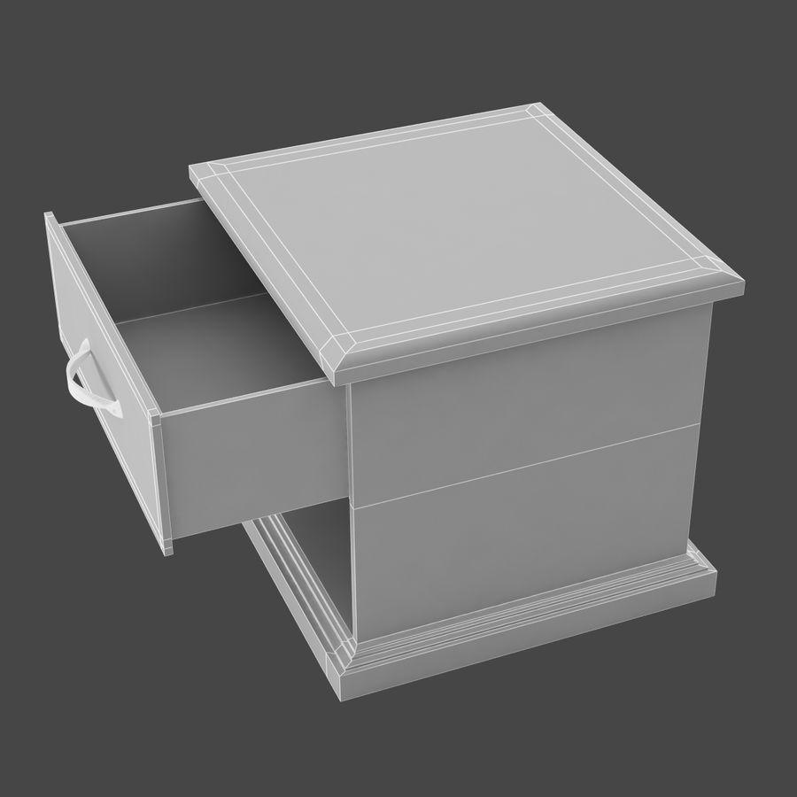 Comodino per camera da letto modello 3D royalty-free 3d model - Preview no. 9