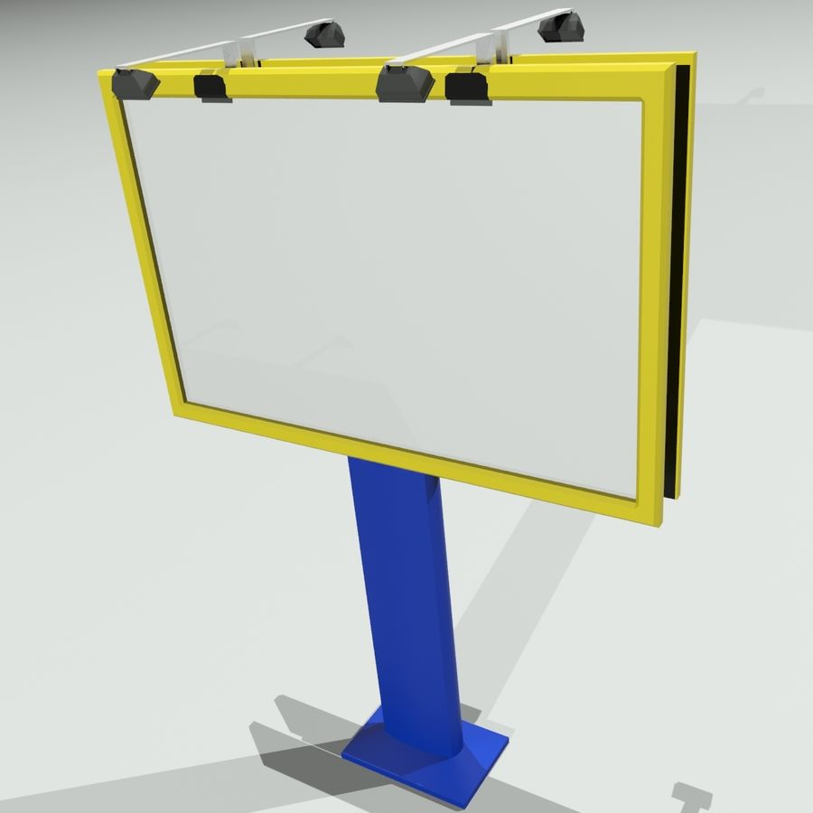 aanplakbord royalty-free 3d model - Preview no. 1