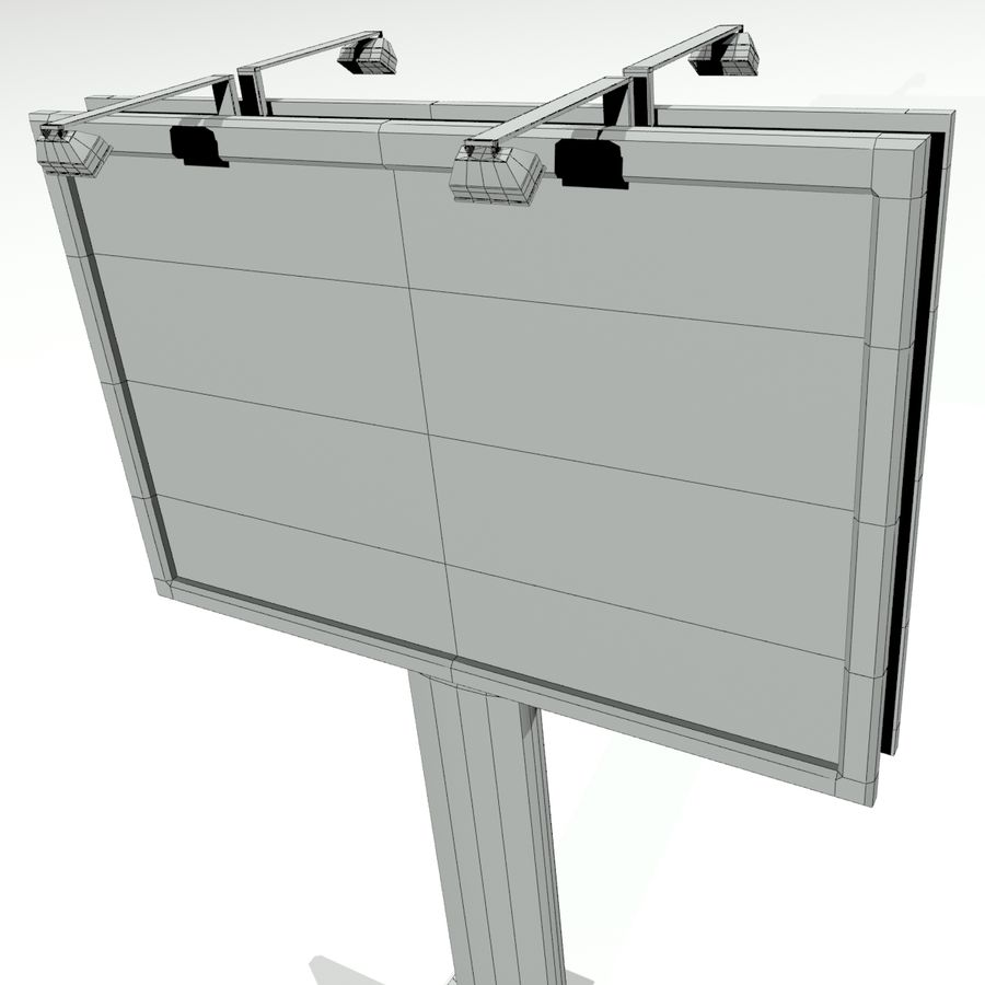 aanplakbord royalty-free 3d model - Preview no. 3